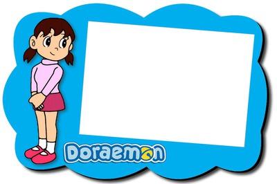 Photo montage Doraemon.