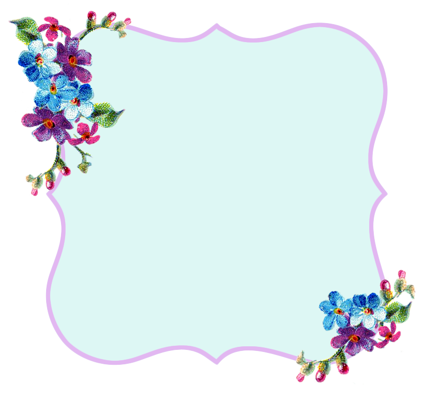 Freebie Image: Pretty Lavender and Blue Printable Frame.
