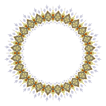 Islamic Frame PNG Images.