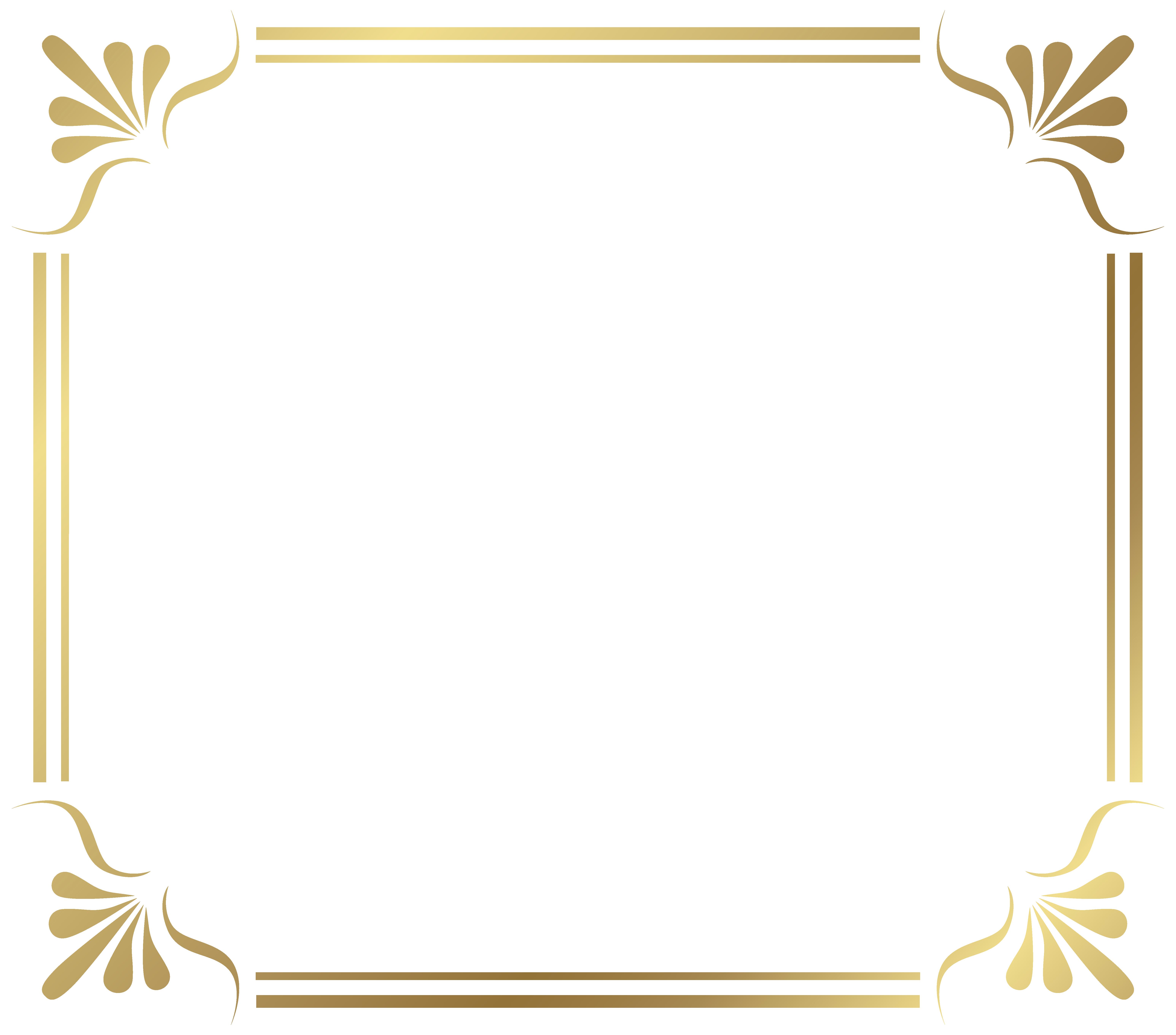 Gold Frame PNG Images Transparent Free Download.
