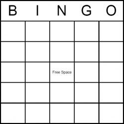 Bingo cards clipart.