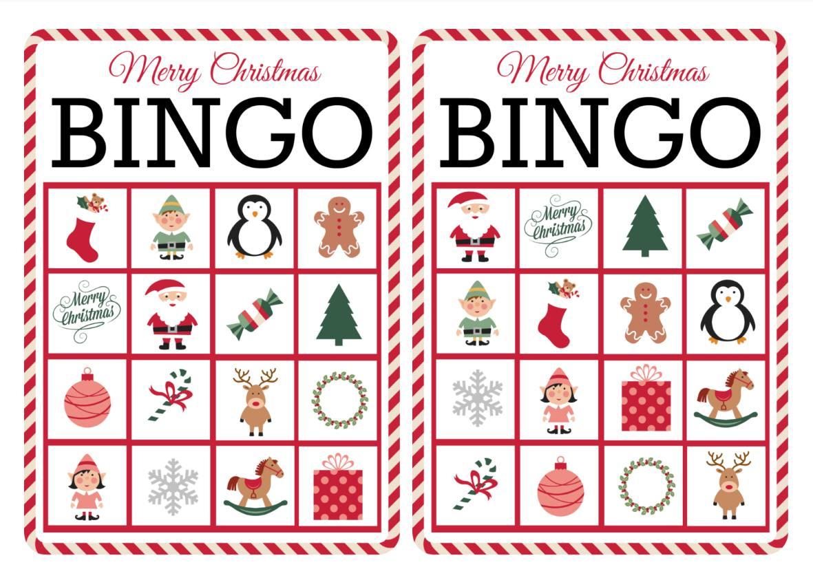 11 Free, Printable Christmas Bingo Games for the Family.