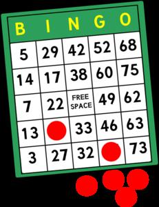 Bingo Cards Clip Art at Clker.com.