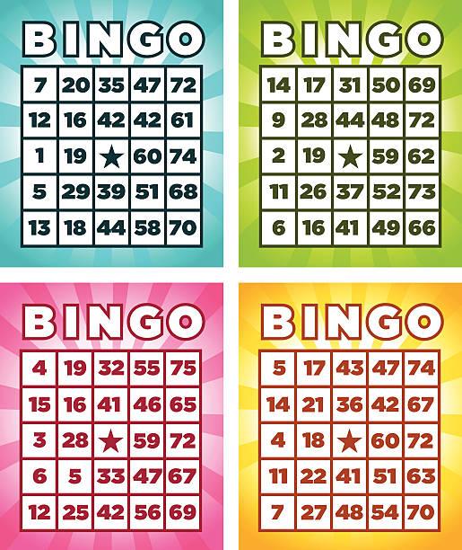 Best Bingo Card Illustrations, Royalty.