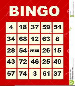 Free Bingo Card Clipart.