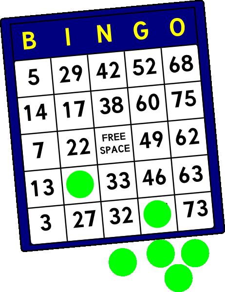 Bingo card clip art at vector clip art.