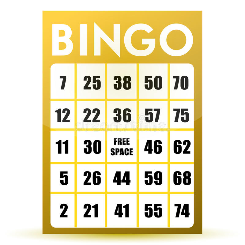 Bingo Card Stock Illustrations.