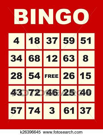 Bingo card clipart 5 » Clipart Station.