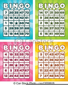 Clipart Of Bingo Cards.