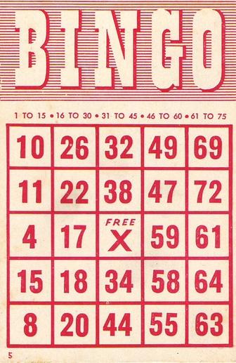 Bingo Cards.