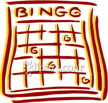 Bingo Card Clipart Picture.