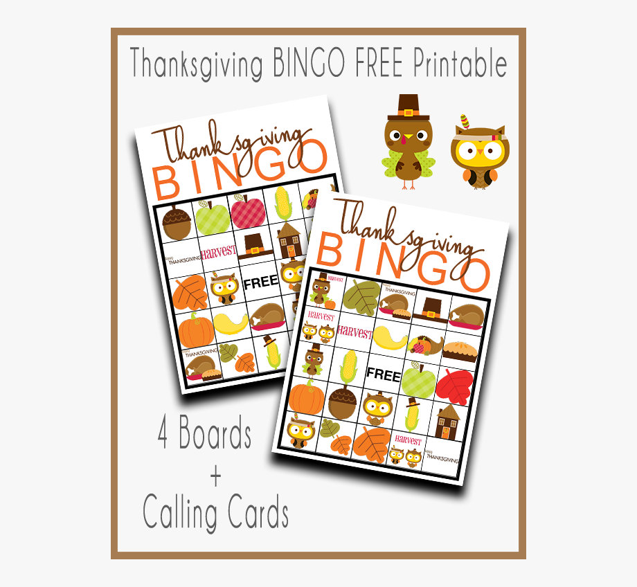 Thanksgiving Bingo Free Printable Set.