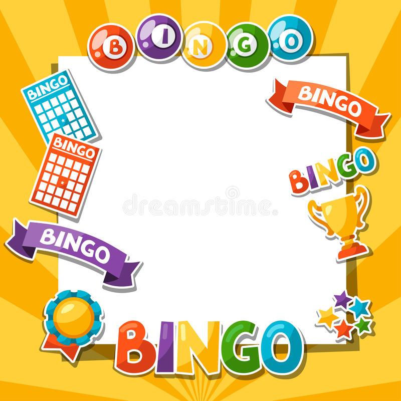 Bingo Ball Border Stock Illustrations.