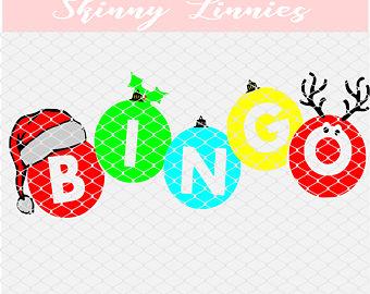 Christmas Bingo Clipart.