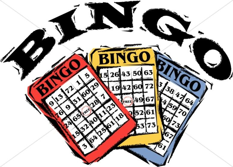 4 Awesome word bingo clipart.