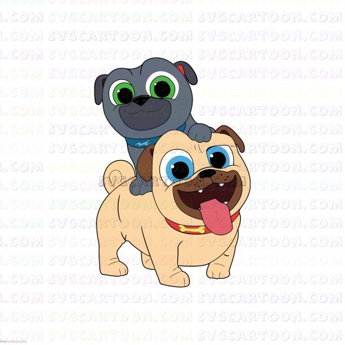 puppy dog pals Rolly and Bingo very happy svg dxf eps pdf png.