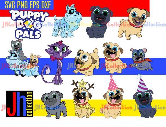 Puppy Dog Pals svg files Rolly Bingo Hissy clipart Puppy Dog.