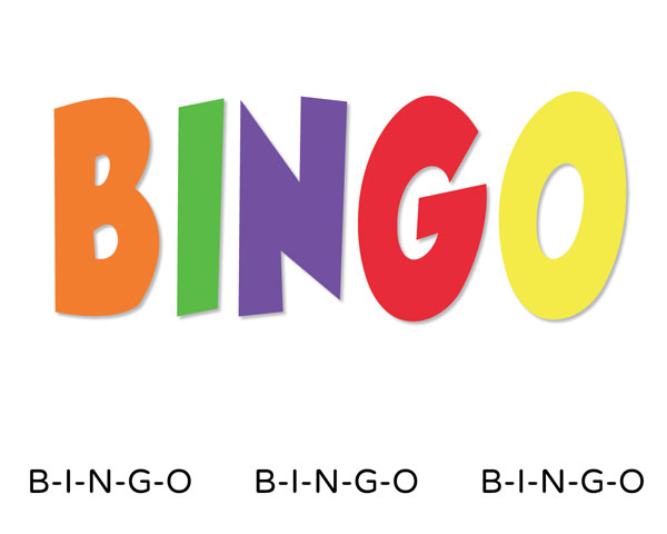 Book Bingo Cliparts.