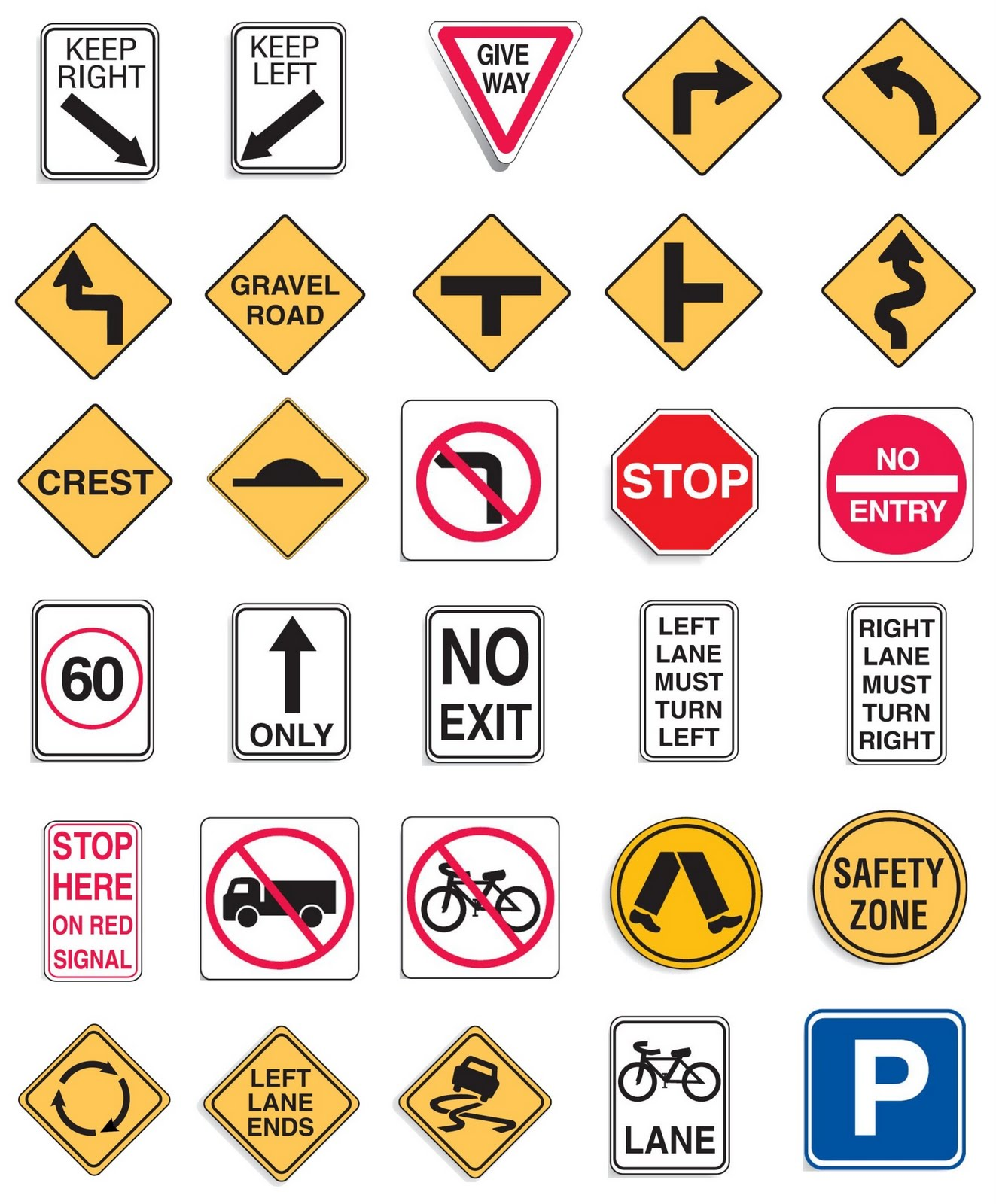This Week's Bingo Theme: Road Signs.