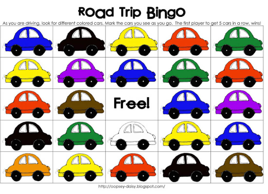 Printable Road Trip BINGO.