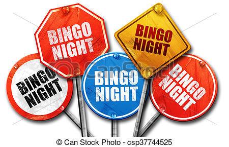 bingo night, 3D rendering, street signs.