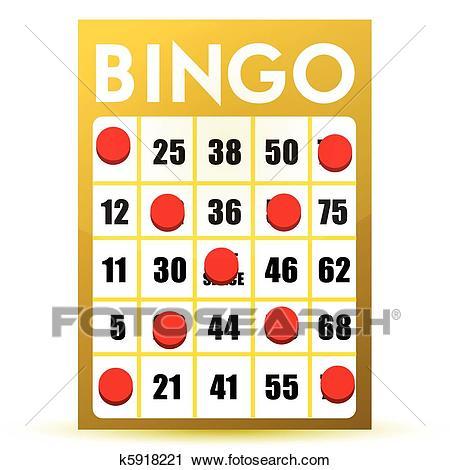 Winner yellow bingo card Clipart.