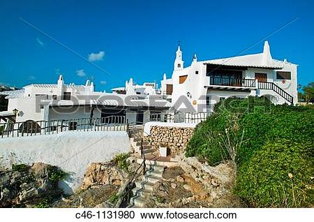 Stock Photography of Binibeca Vell. Minorca. Balearic Islands.