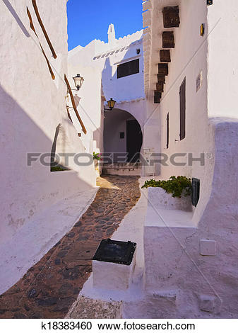 Stock Photography of Binibeca Vell on Minorca k18383460.