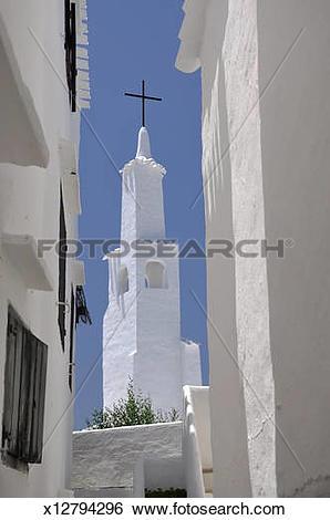 Stock Images of Minorca, Binibeca church x12794296.