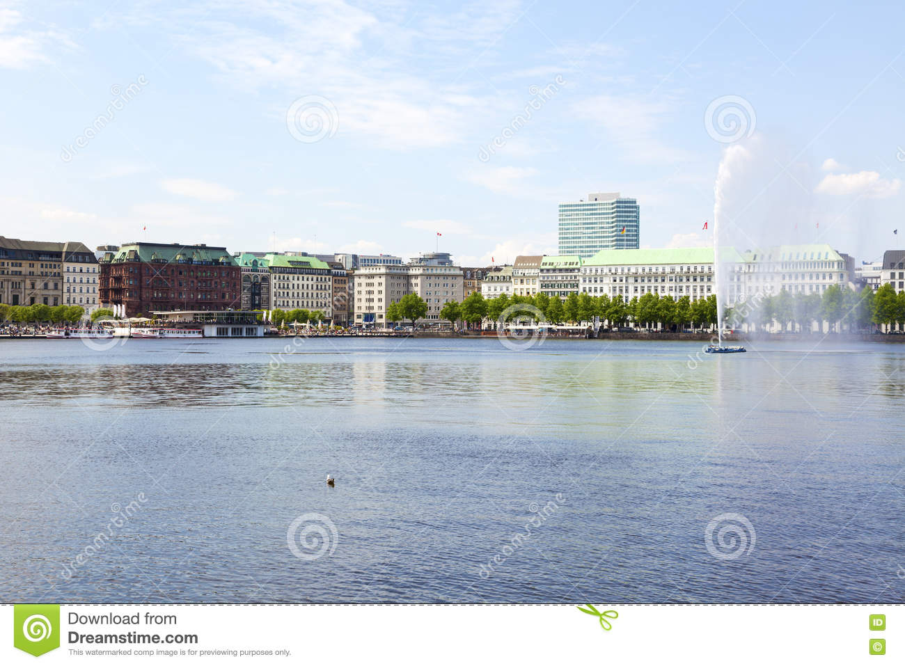 Alster Lake, Hamburg Stock Photo.