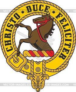 Binning clan crest badge.