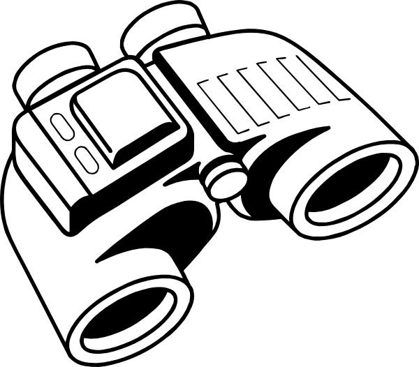 Binoculars clip art Free vector in Open office drawing svg ( .svg.