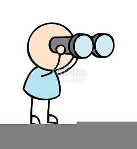 Man With Binoculars Clipart Free.