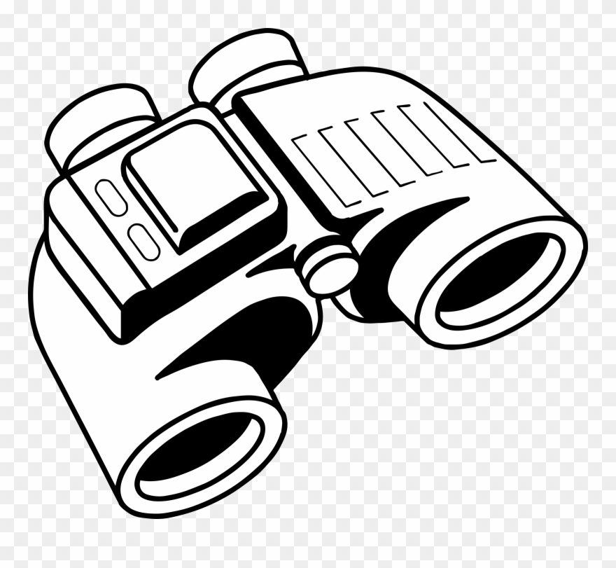 Binoculars Clipart Black And White.