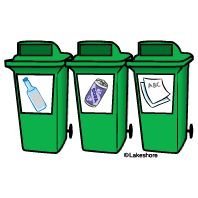 Recycling Bins Clip Art.