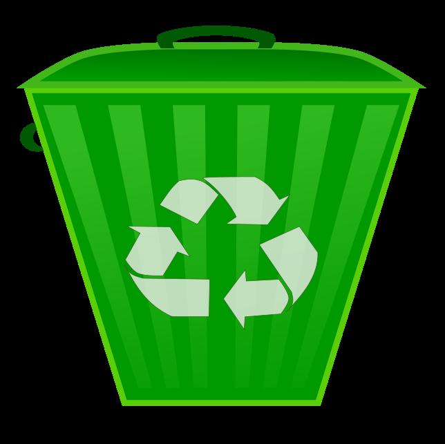 Clip Art Image Of Plastic Bins Clipart.