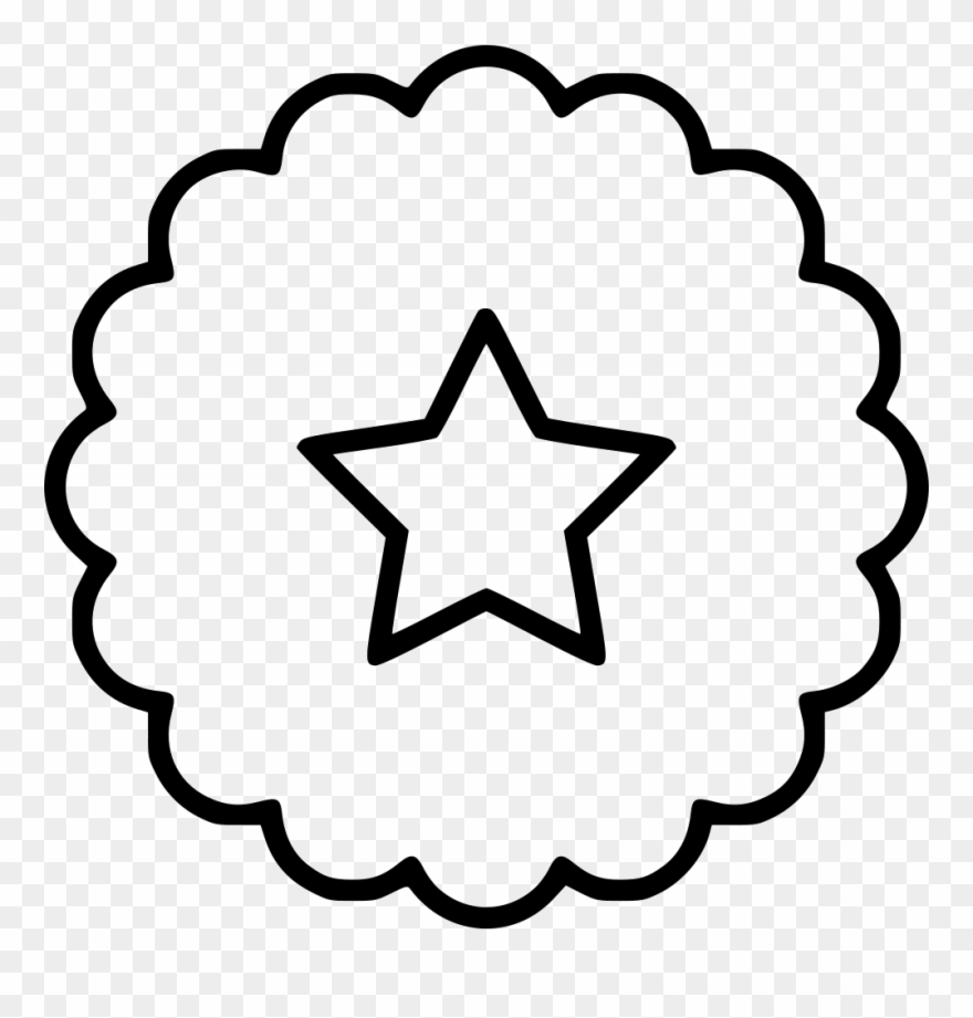 Cockade Ribbon Star Svg Png Icon Free.