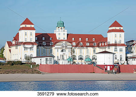 Stock Photograph of Sanatorium in Binz, Ruegen, Germany 3591279.