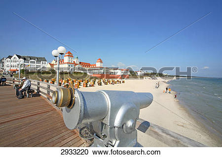 Stock Photography of Oculars on the pier of Binz, Rugen Island.