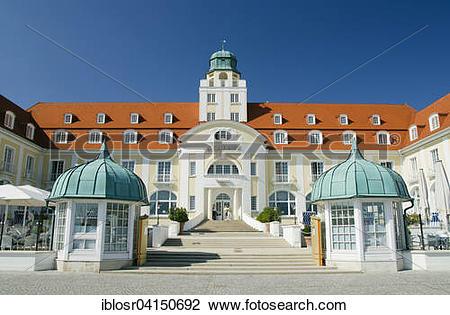 Stock Photo of Spa hotel Binz, Rugen, Mecklenburg.