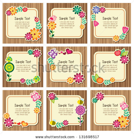 Forest Nature Invitation Cards Stock Vector Illustration 131698517.