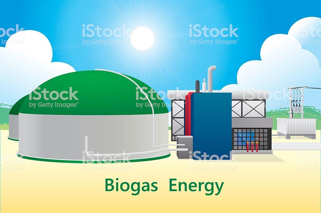 Biogas Energy Stock Illustration.