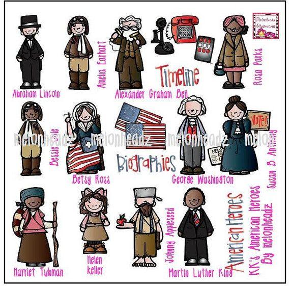 American heroes clip art.