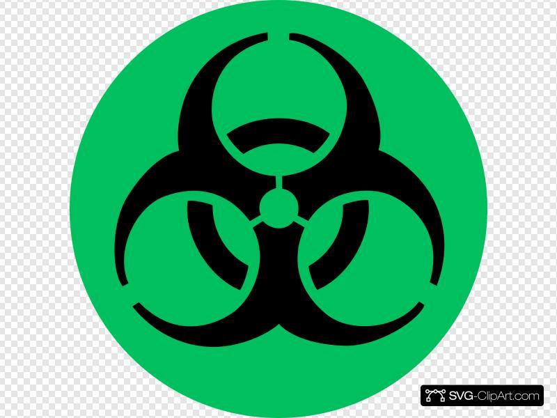 Green Biohazard Clip art, Icon and SVG.