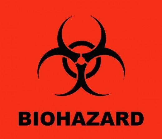 Biohazard symbol clip art.