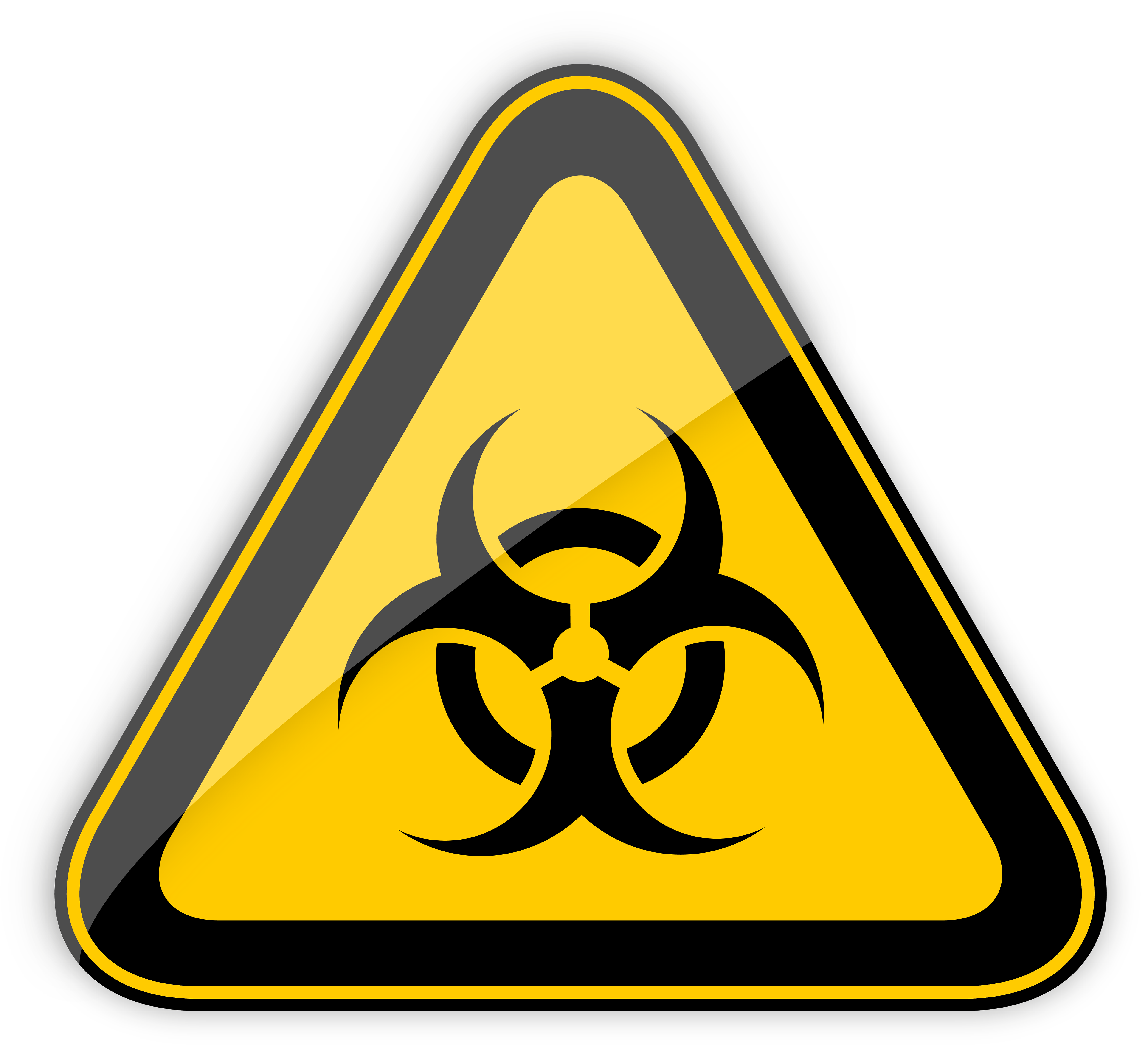 Biohazard Warning Sign PNG Clipart.