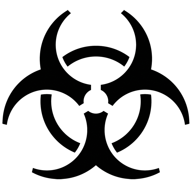 Biohazard Symbol transparent PNG.