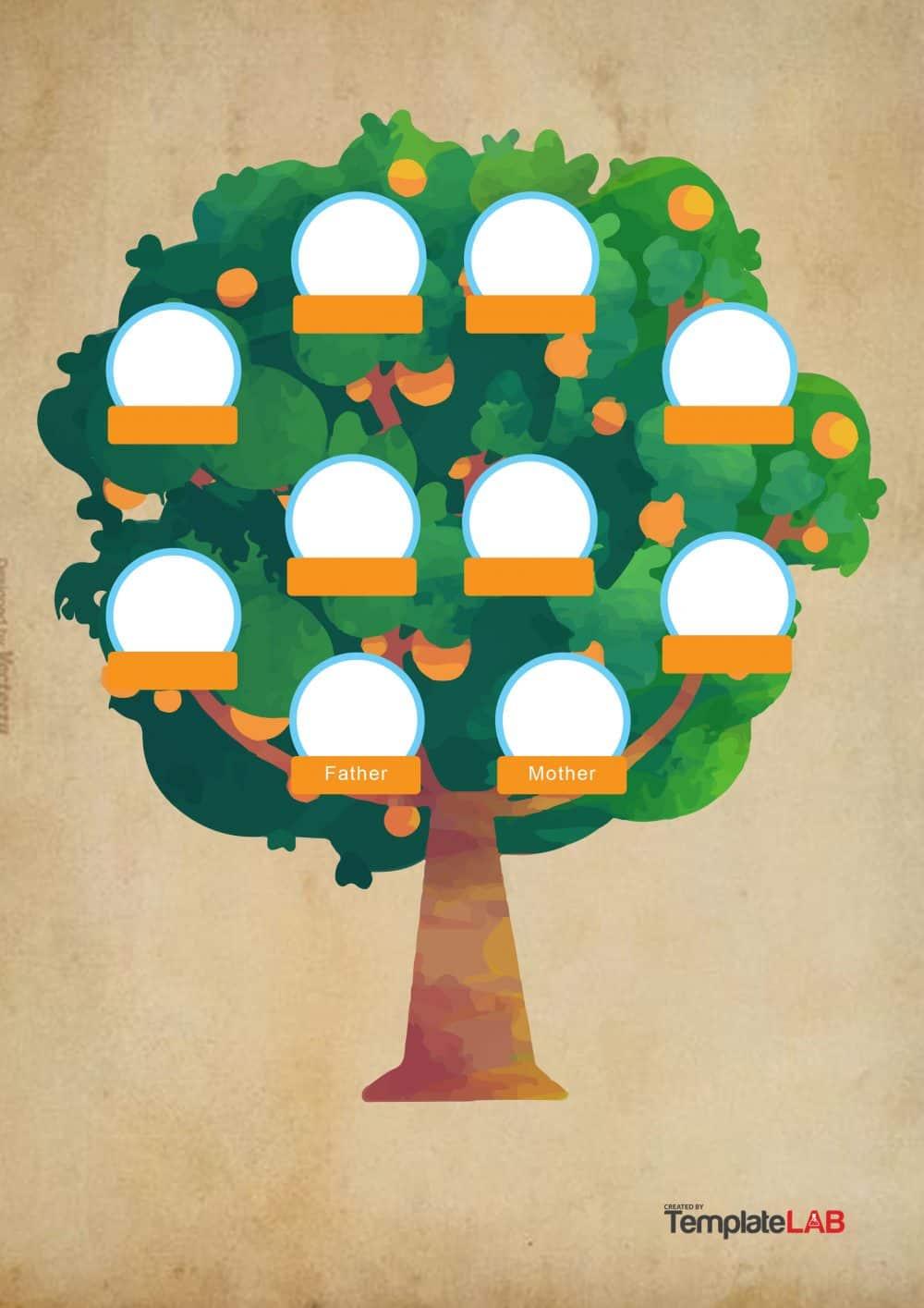 50+ Free Family Tree Templates (Word, Excel, PDF) ᐅ.