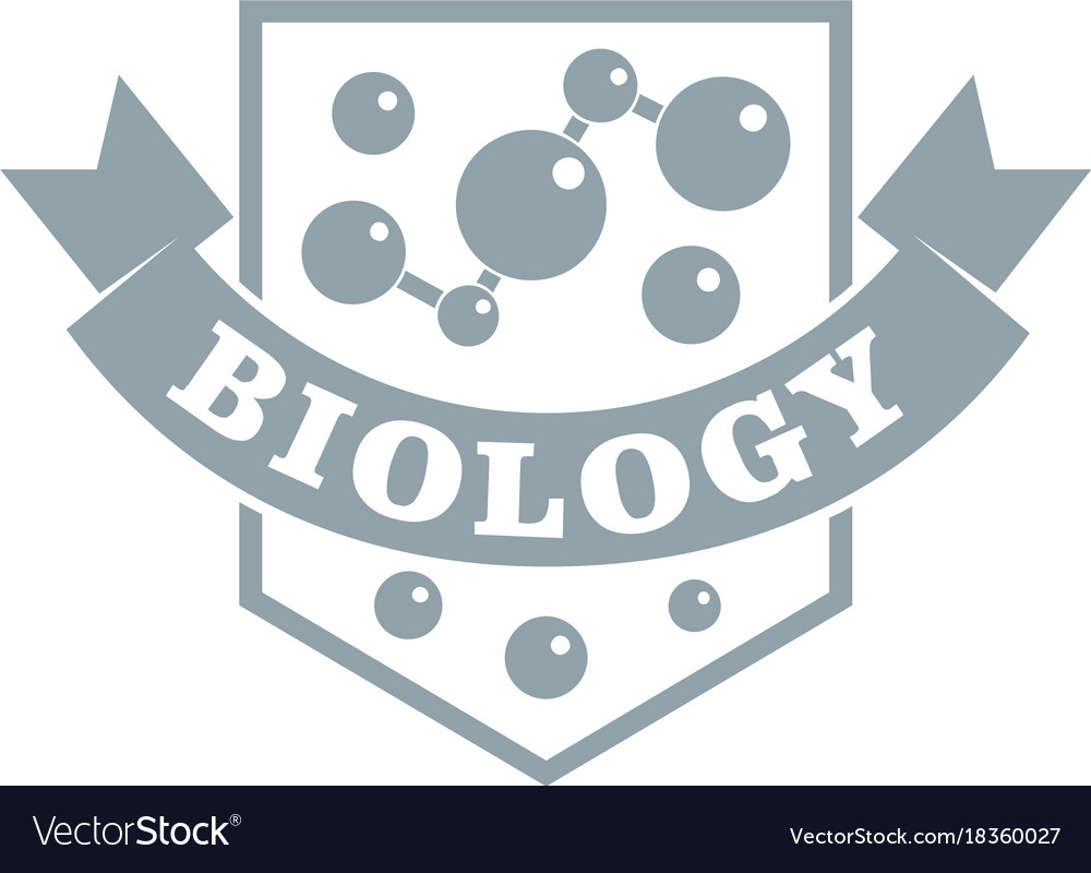 Evolution biology logo simple gray style.