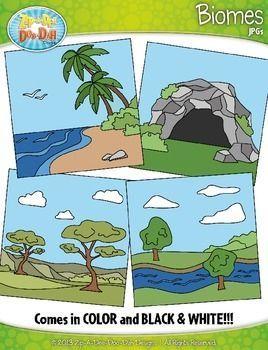 Biomes / Ecosystems Clipart {Zip.